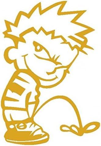 Calvin pipã-vinilo-¬ Prespaziato-10 cm, color dorado: Amazon.es: Coche y moto
