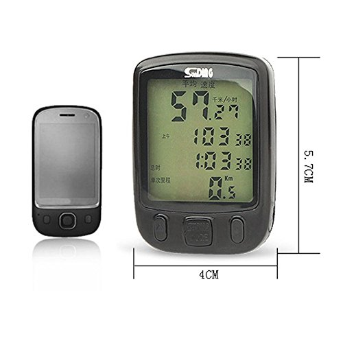 563B Waterproof LCD Display Cycling Bicycle Computer Odometer Speedometer with Green Backlight by Isguin (Image #2)