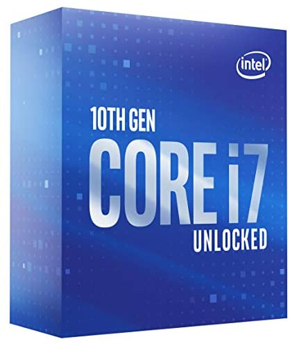 Intel Core i7-10700K Desktop Processor 8 Cores as much as 5.1 GHz Unlocked  LGA1200 (Intel 400 Series Chipset) 125W (BX8070110700K)
