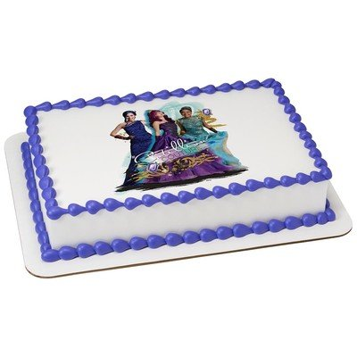 Descendants Edible Icing Image for 1/4 sheet cake