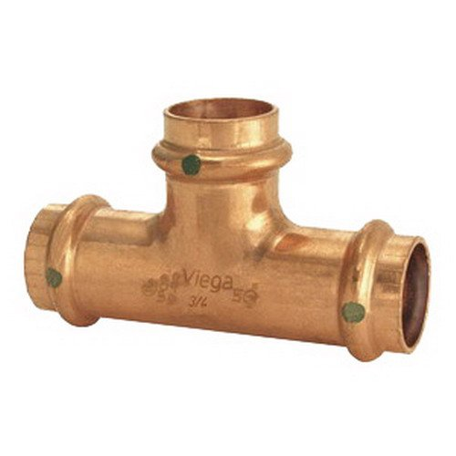 Copper Tee, Press x Press x Press Connection Type, 3/4'' x 3/4'' x 3/4'' Tube Size by VIEGA PROPRESS