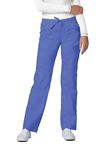Adar Pop-Stretch Junior Fit Mid Rise Straight Leg Drawstring Cargo Pants