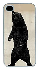 IMARTCASE iPhone 4S Case, Grizzly Bear Polycarbonate Back Case for Apple iPhone 4S/5 White