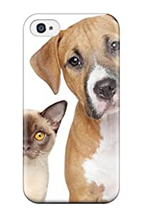 8258706K11284670 Tpu Case For Iphone 4/4s With Cat And Dog