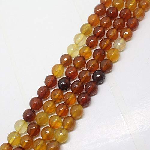 Calvas 4-12mm Faceted Ambers Agates Round DIY Loose Beads 15