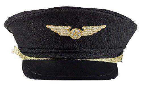 [Airline Pilot Hat Child Costume Accessory] (Pilot Costume Boy)