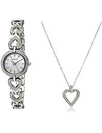 Women's 96X136 Swarvoski Crystal Box Set with Heart Pendant Necklace