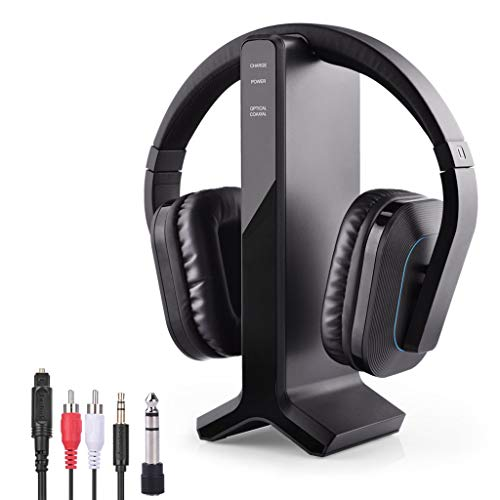 Avantree HT280 Wireless Headphones for TV Watching with 2.4G RF Transmitter Charging Dock, Digital Optical System, High Volume Headset Ideal for Seniors & Hearing Impaired, 100ft Range No Audio Delay (Remote Headphones Tv)