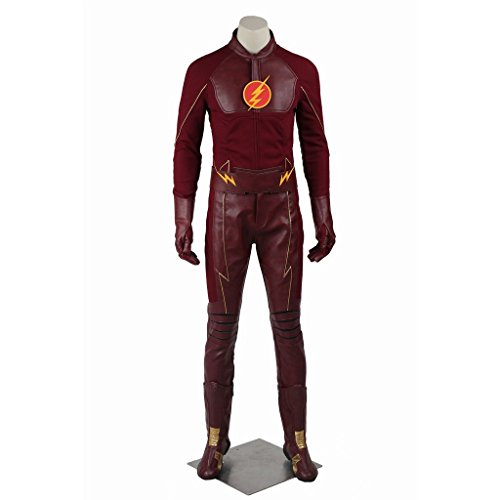 CosplayDiy Men's Costume Suit for The Flash Season 1 Barry Allen Cosplay XL (The Flash Cw Costume)