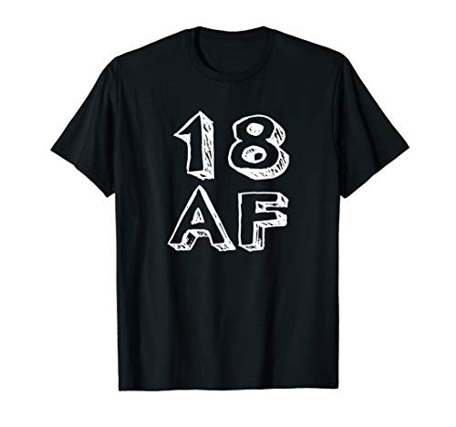 18 AF T Shirt 2000 Funny Birthday Gift T-Shirt 18 Years Old