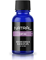 NATRÄL Clary Sage, 100% Pure and Natural Essential Oil, Large 1 Ounce Bottle