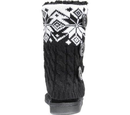 MUK LUKS Womens Cheryl Sweater Boot Black 97Z4mGpAN