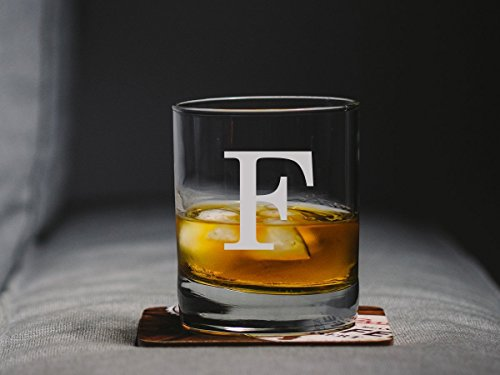 Etched scotch glass, engraved whiskey glass, etched lowball glass, custom etched rock glass, personalized etched rock - Glasses Custom