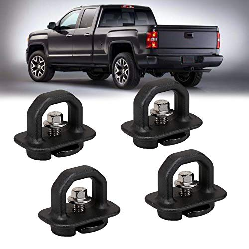 4 Pcs Tie Down Anchor Truck Bed Anchors, Side Wall Hook Rings for 07-18 Chevy Silverado/GMC Sierra,15-18 Chevy Colorado/GMC Canyon Pickup (4 Pack-Truck Bed Tie Downs Pickup Anchors)