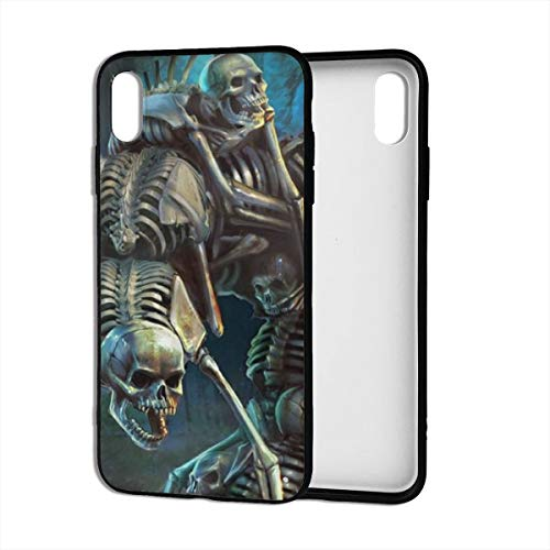 Wicca Samhain Skull Halloween Dancing Skeleton iPhone Xs Max Case Theme Cover Decorative Mobile Accessories Ultra Thin Lightweight Shell Pattern Printed Ornament Decorations - Halloween Dancing Skeleton
