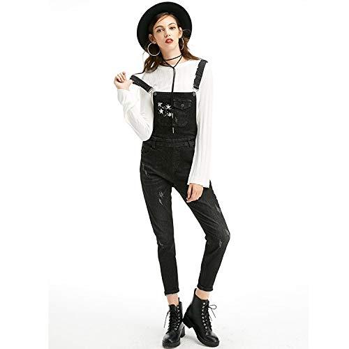 Mvguihzpo Laccio Donna Tempo Nove Jeans Nuovi M Per Vestibilità Da Comodo Nero Moda Libero E S Ampia Donna Punti Il rAwrCqZz