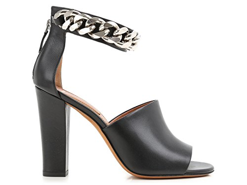 Givenchy alta de tacón en piel de becerro negra - Número de modelo: BE08686004-001 negro