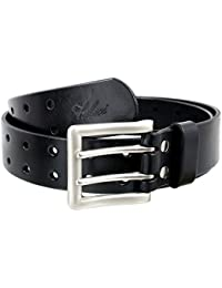 Double Holes Genuine Leather Jeans Belt 9004