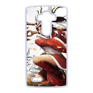 caja del teléfono celular LG G4 funda blanca la Liga de leyendas Y0K4VL Akali