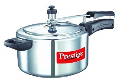 Prestige Nakshatra 11563 Aluminum Pressure Cooker, 4-Liter from Mercantile International