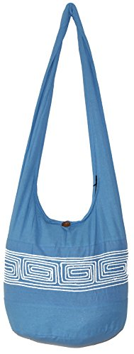 Lightweight Hobo Bag (Stripe Cotton Bohemian Shoulder Hippie Hobo Bag Large Light Weight 36