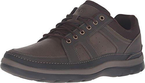 Rockport Men's Get Your Kicks Mudguard Blucher Oxford, dark brown leather, 9.5 M US ()