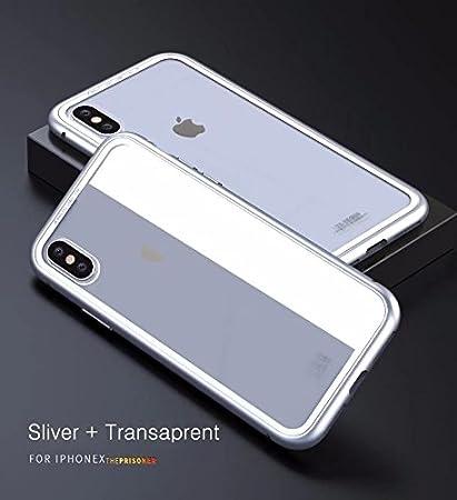 9b2fd3d5cc8 EGO TECHNOLOGY iPhone X Bumper Magnetico Color Plata Luphie Case de Lujo  Metalico Aluminio Protector Anti