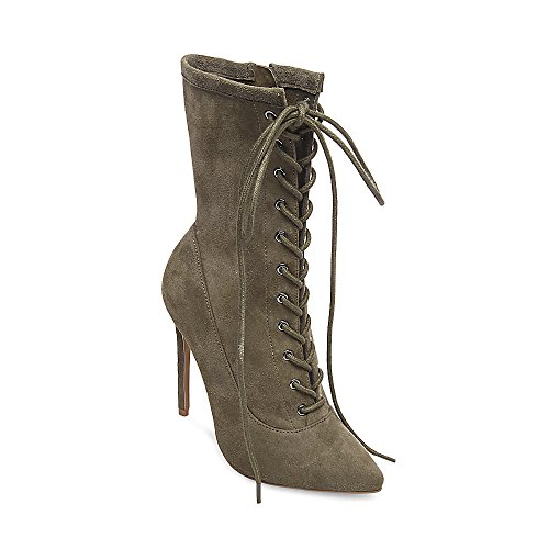 Steve Madden Stiletto Boots (Steve Madden Women's Satisfied Fashion Boot, Olive Suede, 6.5 M US)