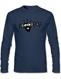 Men's Love Kpop TXT Owl Vector Graphic Art Long Sleeve T-Shirt