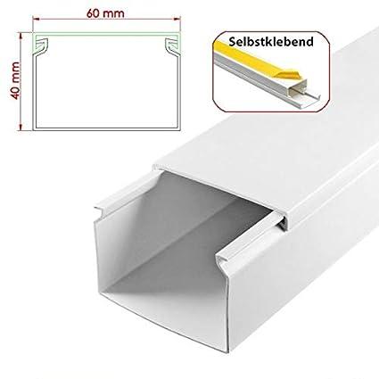 L x B x H 2000 x 120 x 60 mm, PVC, Kabelleiste, Schraubbar wei/ß SCOS Smartcosat SCOSKK62 10 m Kabelkanal