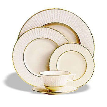Citation Lace - Lenox Citation Lace Gold Banded Ivory China Butter Plate