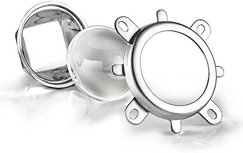 2 pcs 45 Degree LED TIR reflector Lens 1w 3w high power Black Holder US seller