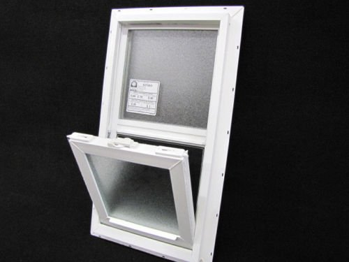 Mobile Home Window OBSCURED GLASS 14X27 Insulated Vinyl Thermopane Lower Tilt Sash Screen Included by Kinro