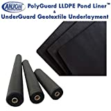HALF OFF PONDS PolyGuard Liners LLDPE - 30 ft. x 35 ft. - 20 Mil Pond Liner and Geo Combo