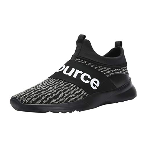iYBUIA Men's Personality Mesh Breathable High-top Sports Shoes Air Cushion Hip-Hop Sneakers Shoes (Size:US 6-US10) Black