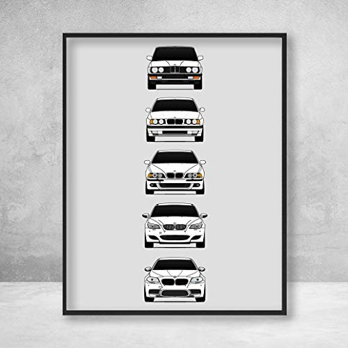 BMW M5 Poster Print Wall Art of the History and Evolution for sale  Delivered anywhere in Canada