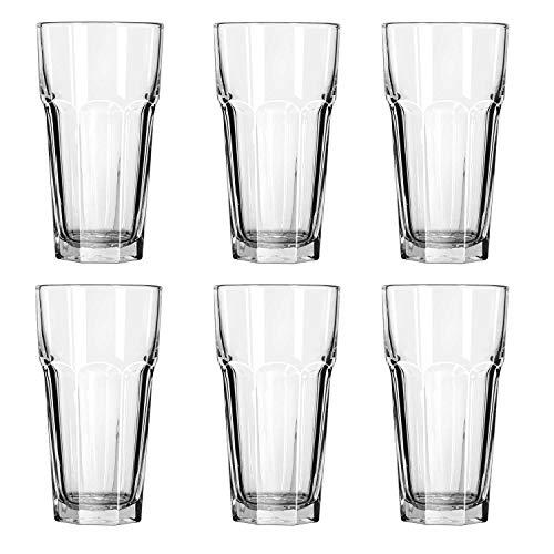 Gibraltar Tall Iced Tea Tumbler Glasses 22 oz. (2 Cup) ()