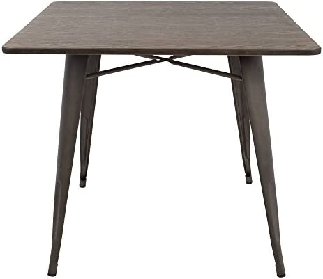 WOYBR Steel, Bamboo Oregon Square Dining Table