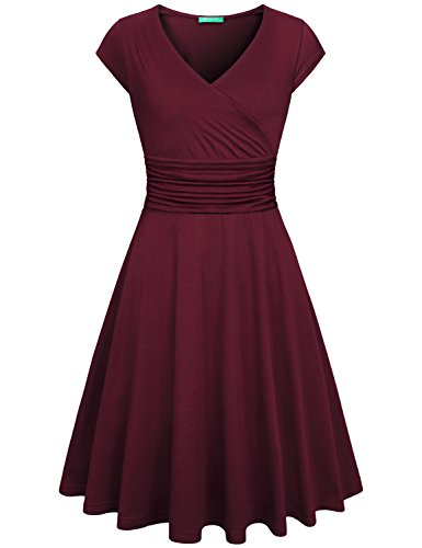 Surplice V-Neck Dress - 1