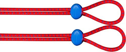 Tyr Bungee Cord Strap Kit 2 Red Navy