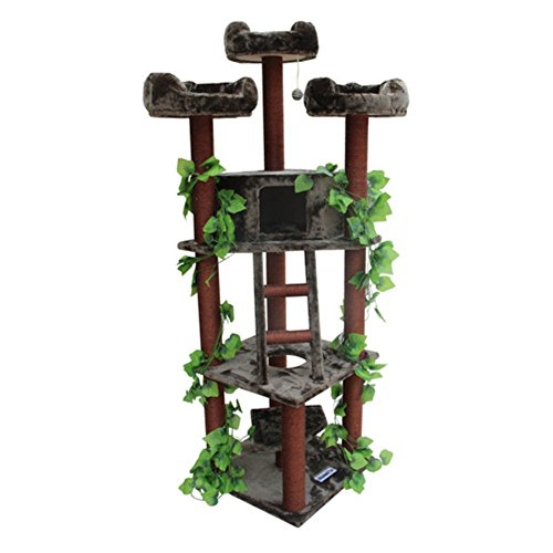 Kitty Mansions Redwood Cat Tree (Cat Tree Outdoor)