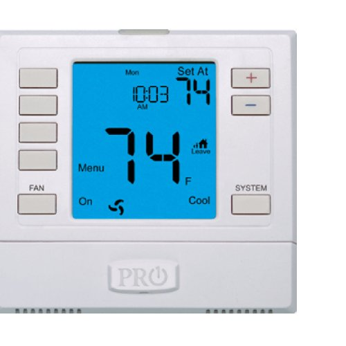 Day Electronic Programmable Thermostat - PRO1 IAQ T755 3 Hot/2 Cold 7 Day Thermostat with 4-Sq-Inch Screen