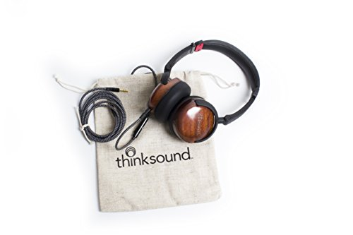 thinksound On2 wood on-ear monitor headphone (natural black)