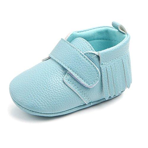 (Antheron Infant Moccasins - Unisex Baby Girls Boys Tassels Soft Sole Toddler First Walker Newborn Crib Shoes(Blue,6-12 Months))