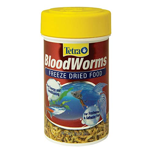 Tetra BloodWorms 0.28 Ounce, Freeze-Dried Food For Freshwater and Saltwater Fish