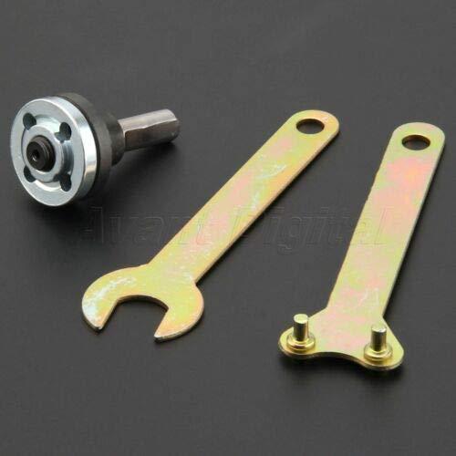 FidgetKute 5PCS M10/M6 Hole Drill Angle Grinder Mandrel Adapter Disc Spanner Conversion Kit 10MM Conversion Kit ()