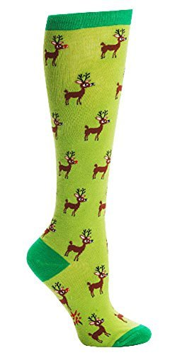 Reindeer Games Knee High Tube Socks