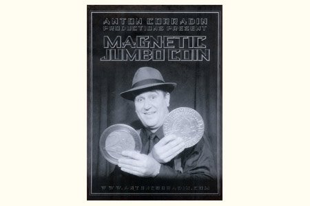 Magnetic Jumbo Coin With DVD (US Half Dollar) by Anton Corradin by Anton Corradin Productions