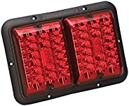 Bragman LED Recessed Double Taillight, Red and Red with Black Base