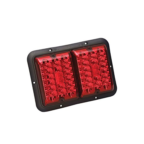 Bargman 48-84-527 Double LED Taillight with Stop/Tail/Turn (Red- Black (Bargman Tail Light Lens)